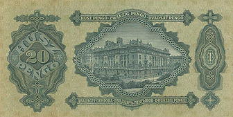 20 Pengö vom 2.1.1930, Rückseite
