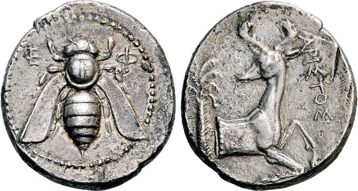 Abb. 3.1_ Tetradrachmon (404–390 v.u.Z.), 14,88 g, Ø (Höhe Vs.) 28 mm [Dr. Busso Peus Nachf., Auktion 398 (28.–30. April 2009),  Nr