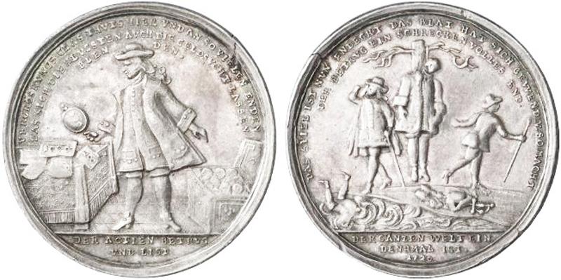 Deutsche satirische Silbermedaille