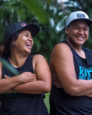 Cook Islanders wearing KiteSUP streetwear in Rarotonga