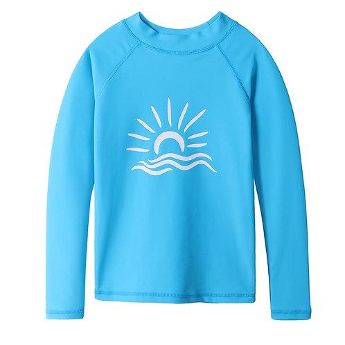 Kids Long Sleeve UPF 50+ Sun Protection Rash Guard