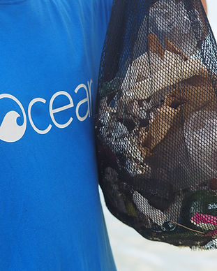 ocean and beach clean up from rubbish