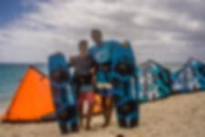 Ozone kitesurfing in Muri Lagoon