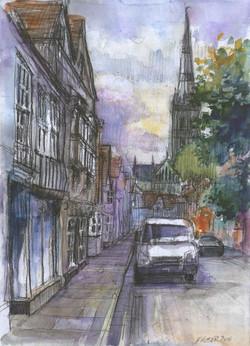 St Ann Street, early evening