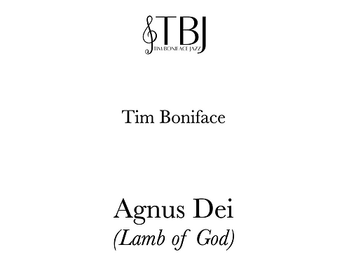 AGNUS DEI - Full Score only