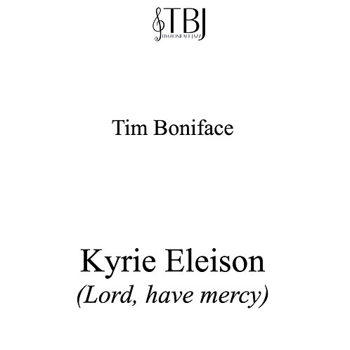 KYRIE ELEISON - Full score + license for 15 x parts