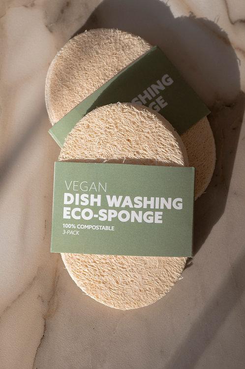 CR- Esponjas Ecológicas Biodegradables (paquete de 3)