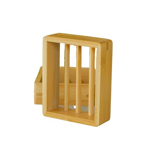 Estante De Jabón De Bambú Moso
