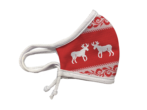 ADJUSTABLE UGLY SWEATER MASK CNCPT RED