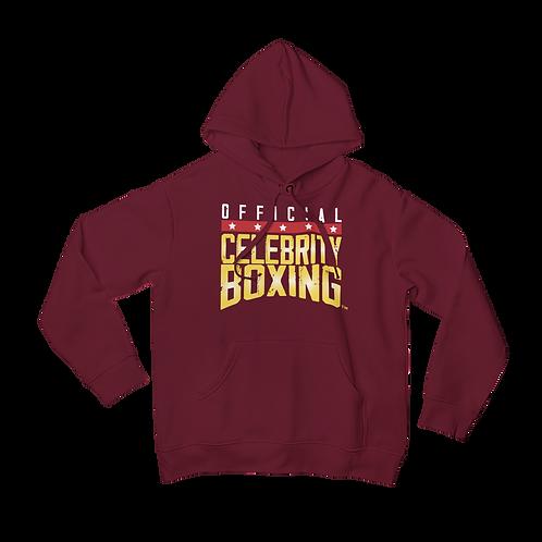 Celebrity Boxing Hoodie Maroon