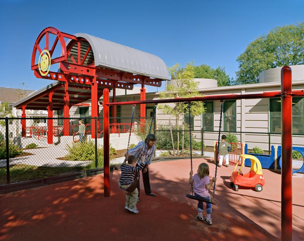 Playground & Main Entry