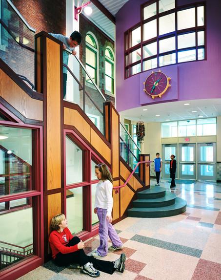 Main Entry Lobby with Clock