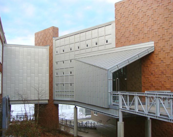 Folded Metal Vestibule to Main Lobby