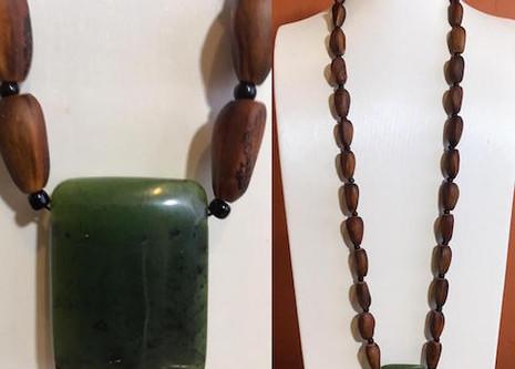 Digger Pine Jade Necklace