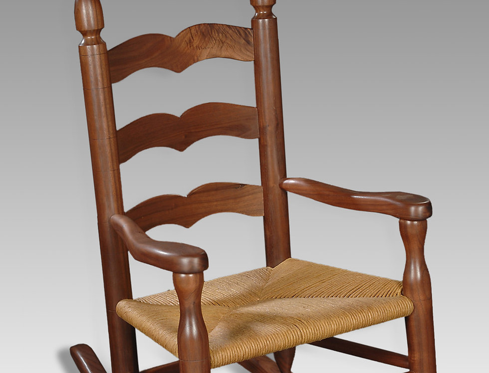 Caroline Rocker in Black Walnut, Colonial Style