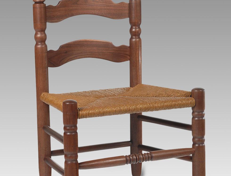 Slipper Chair in Black Walnut, Betsy Ross Style