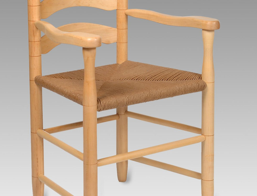 3-Slat Dining Arm Chair in Maple, Chalet Style