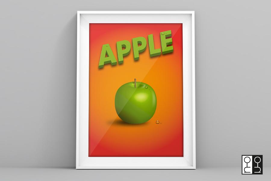 3D tekening Appel