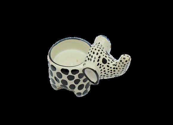 Soapstone Elephant Candle Holder