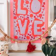 I framed Harper's LOVE painting from sch
