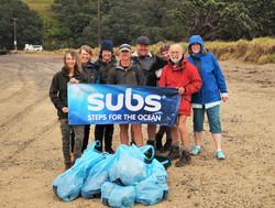 Subs Beach Clean Up Hauraki Gulf
