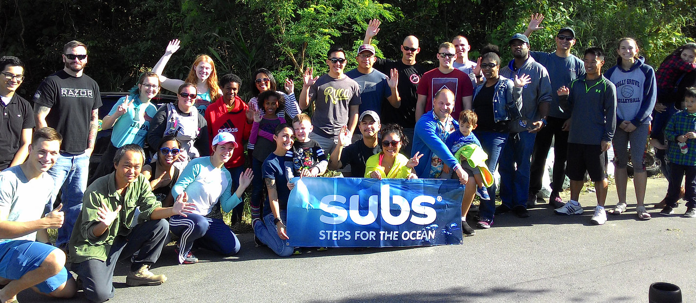 Subs Beach Clean Up Event, Okinawa Japan