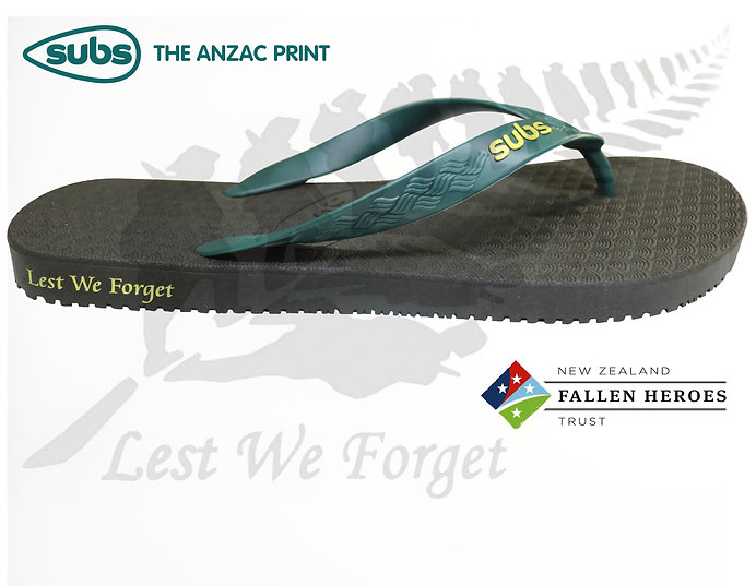 Fallen Heroes NZ Fundraiser, Jandals, Flip Flops, Thongs