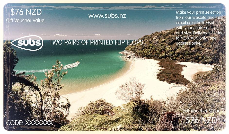 2x Printed Pairs Gift Voucher