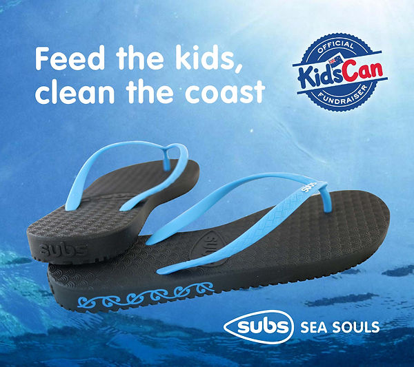KidsCan fundraiser image for KidsCan and Subs Ltd, custom pair designed by James Trevena