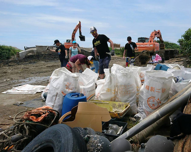 Subs Recycled Plastic Jandals, Beach Clean Up in Taiwan Miaoli Da-an