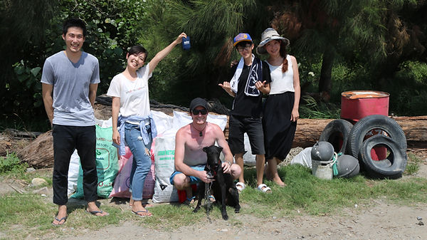 after photo of a small beach clean up