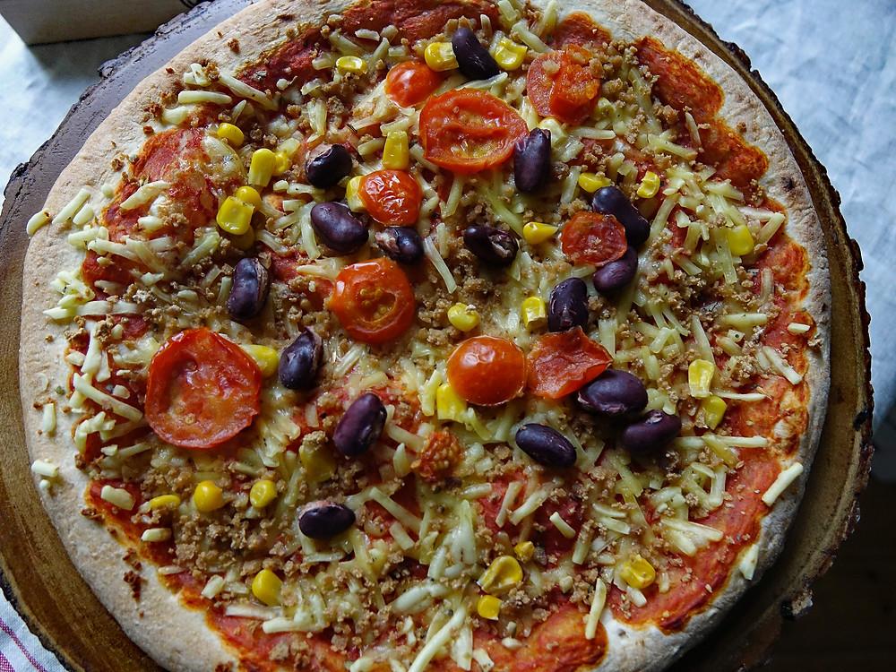 cooked fronzen pizza