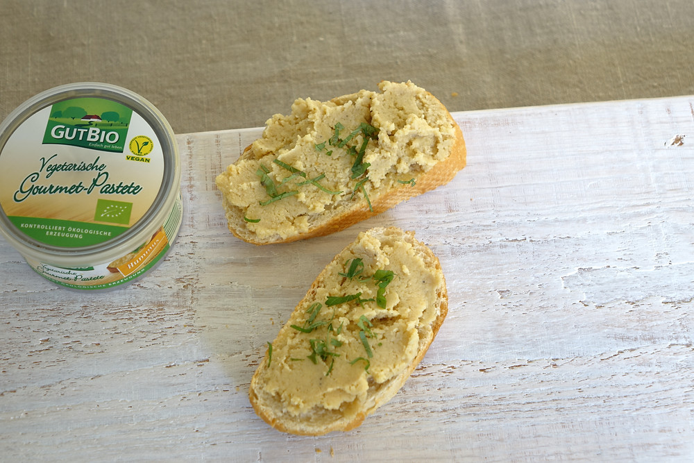 Hummus on Bread