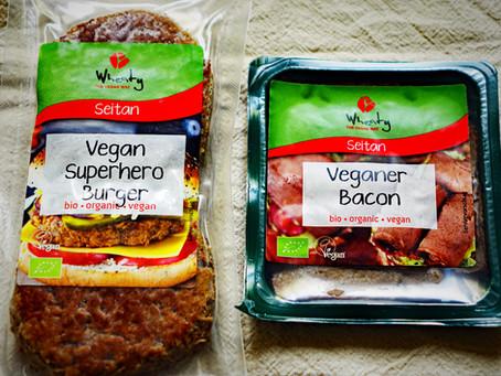 Wheaty - Vegan Superhero Burger and Bacon