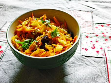 Carrot, Apple and Dried Cranberry Salad