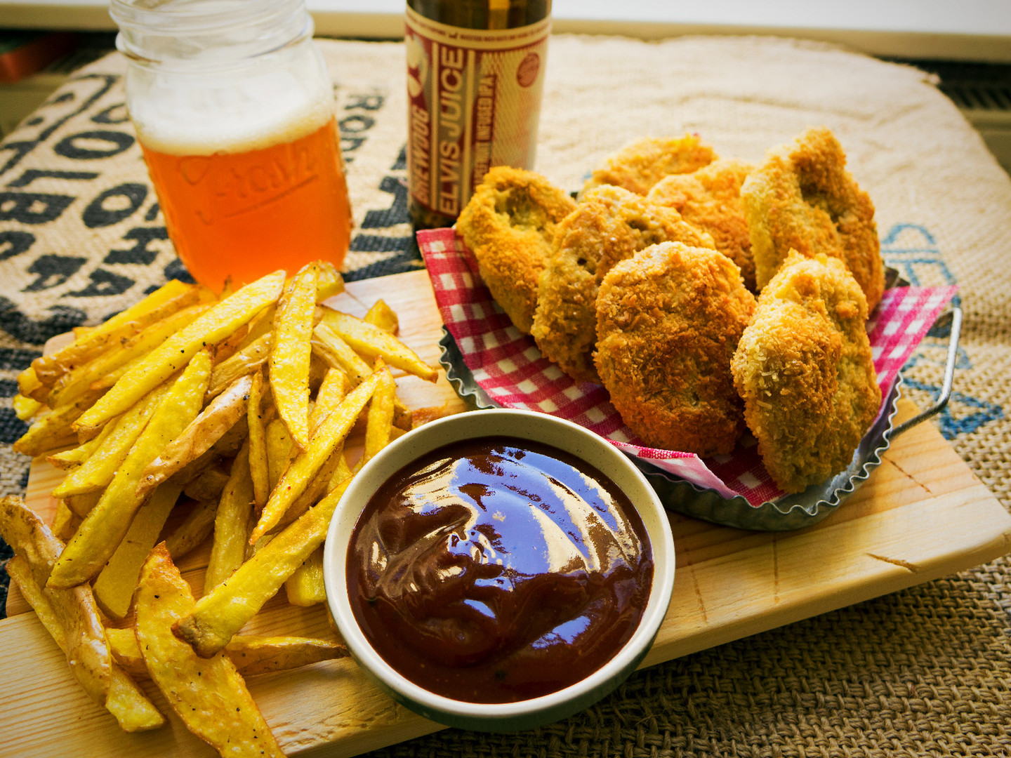 Coconut Breaded Soy Nuggets.