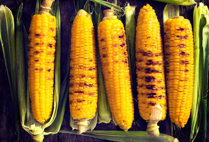 Corn on the Cob Toppings Three Different Varieties