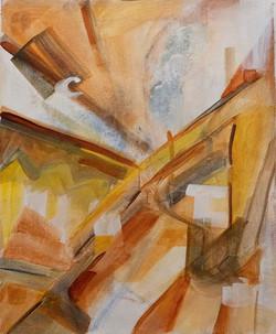 Interior View Acrylic Watercolor
