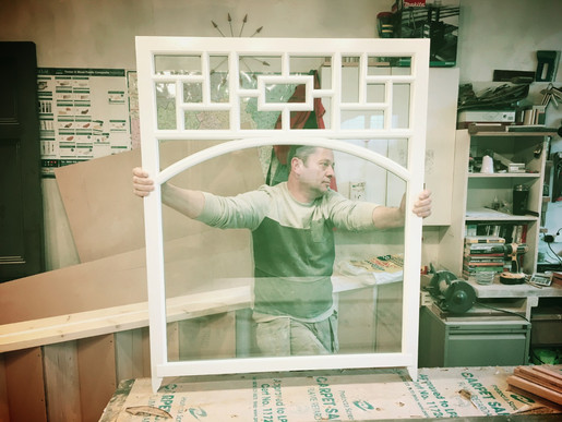 Sash Window in Workshop