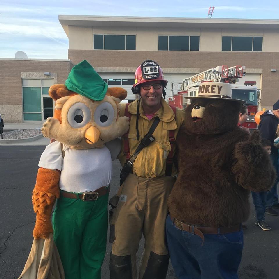 Woodsy Owl, Captain Whetton and Smokey Bear