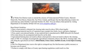 Updated Open Burn Information
