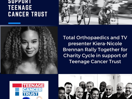 Teenage Cancer Trust Charity Cycle - Total Orthopaedics Gets Star Support for Fundraiser