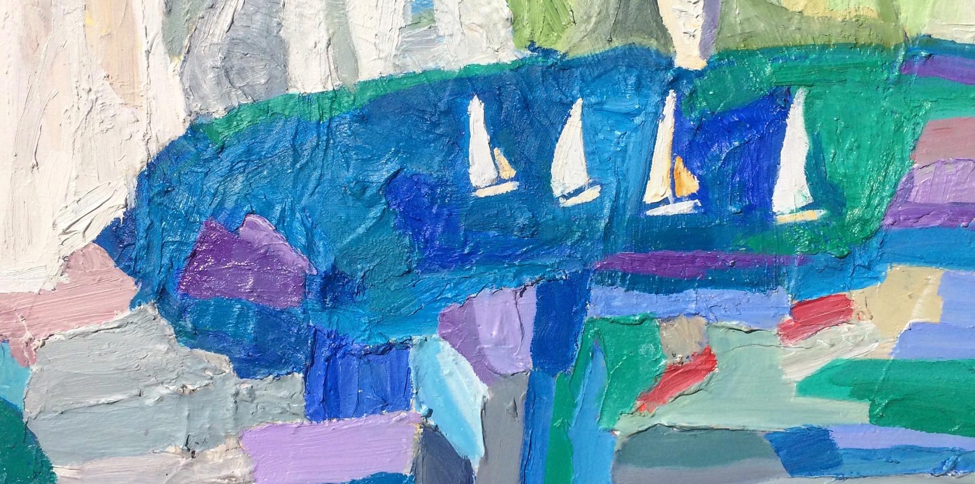 Sailing at Old Harry Rocks
