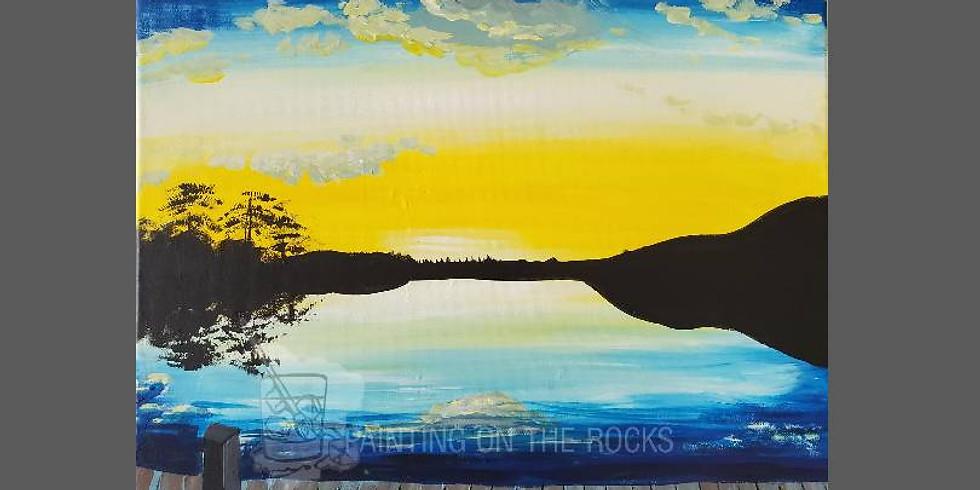 """Dock Sunset"" Paint & Sip at Union City Bbq"