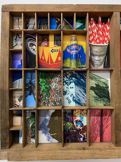 Tom Norman - 'Analogagram I' 2019, mixed media with Giclée prints