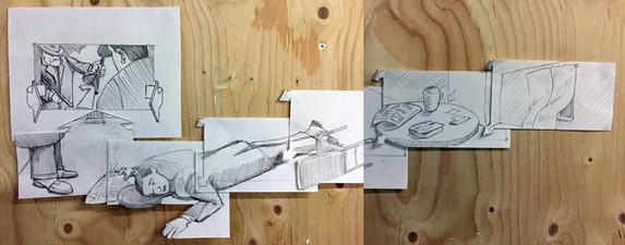'Sketch for Millers Crossing storyboard'