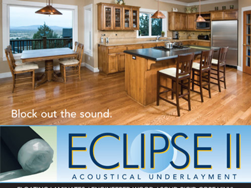 Eclipse II for floating WPC Vinyl and Laminate Floors 100 s/f Rolls