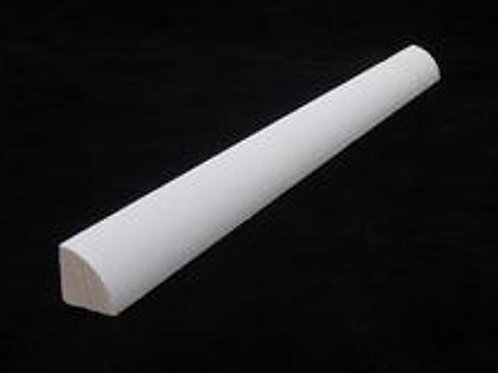 "WHITE PRIMED MDF QUARTER ROUND 96"" LONG"