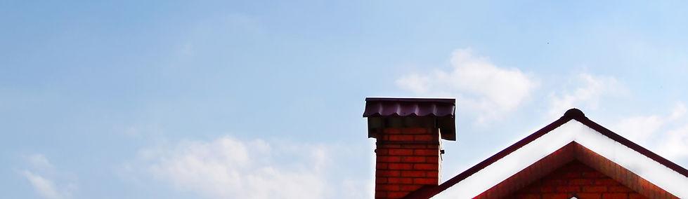煙突付きの家