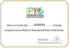 ICDET is INTERNATIONAL PEACE YOUTH GROUP AFFILIATE
